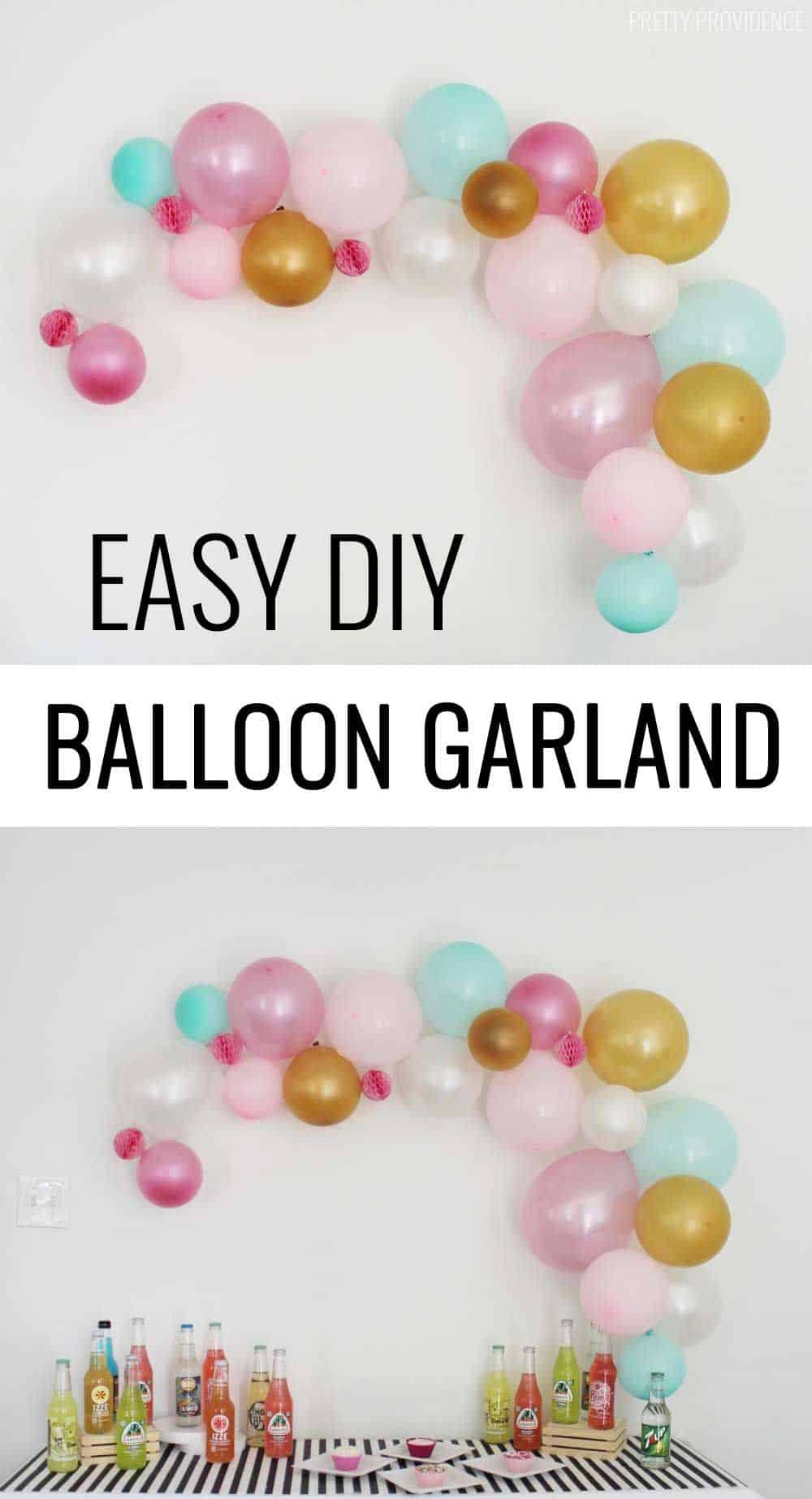 Easy diy balloon garland