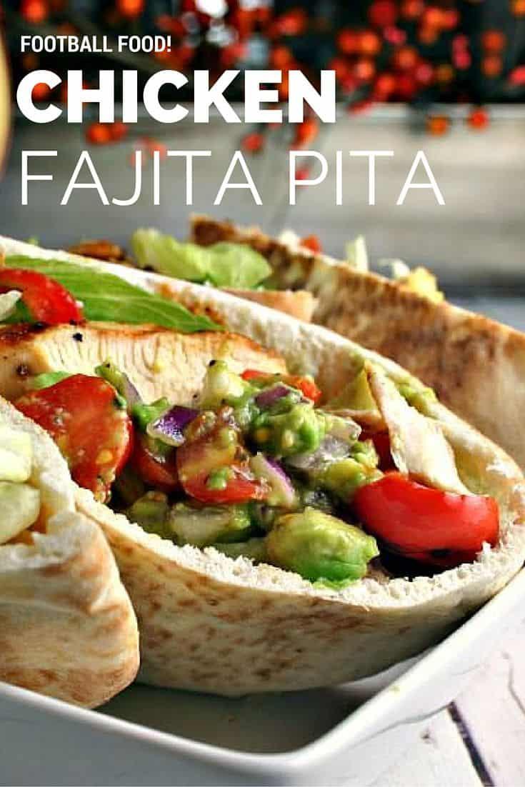 Flavfourful chicken fajita pita