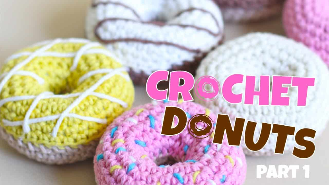 Fun crochet donuts