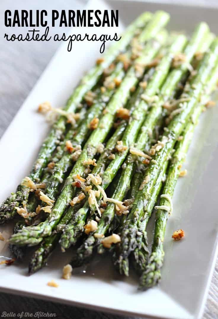 Garlic parmesan roasted asparagus