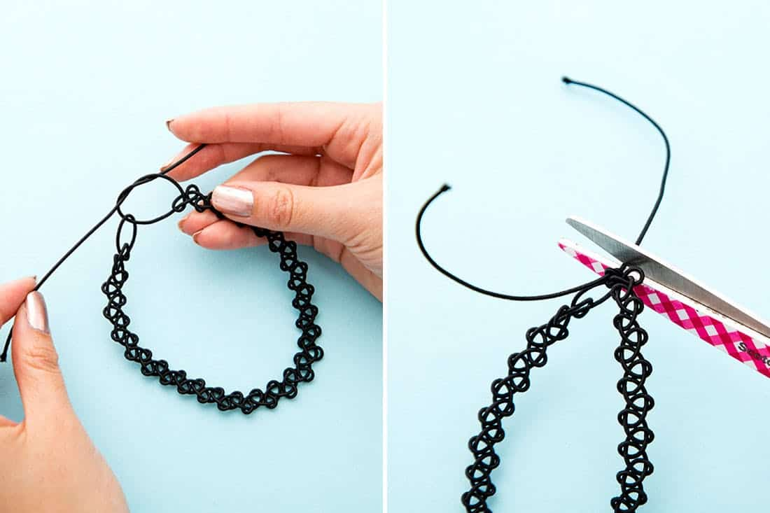 Hand woven henna style choker