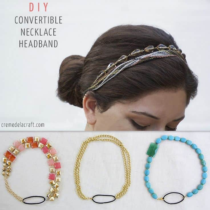 Headband from a broken necklace