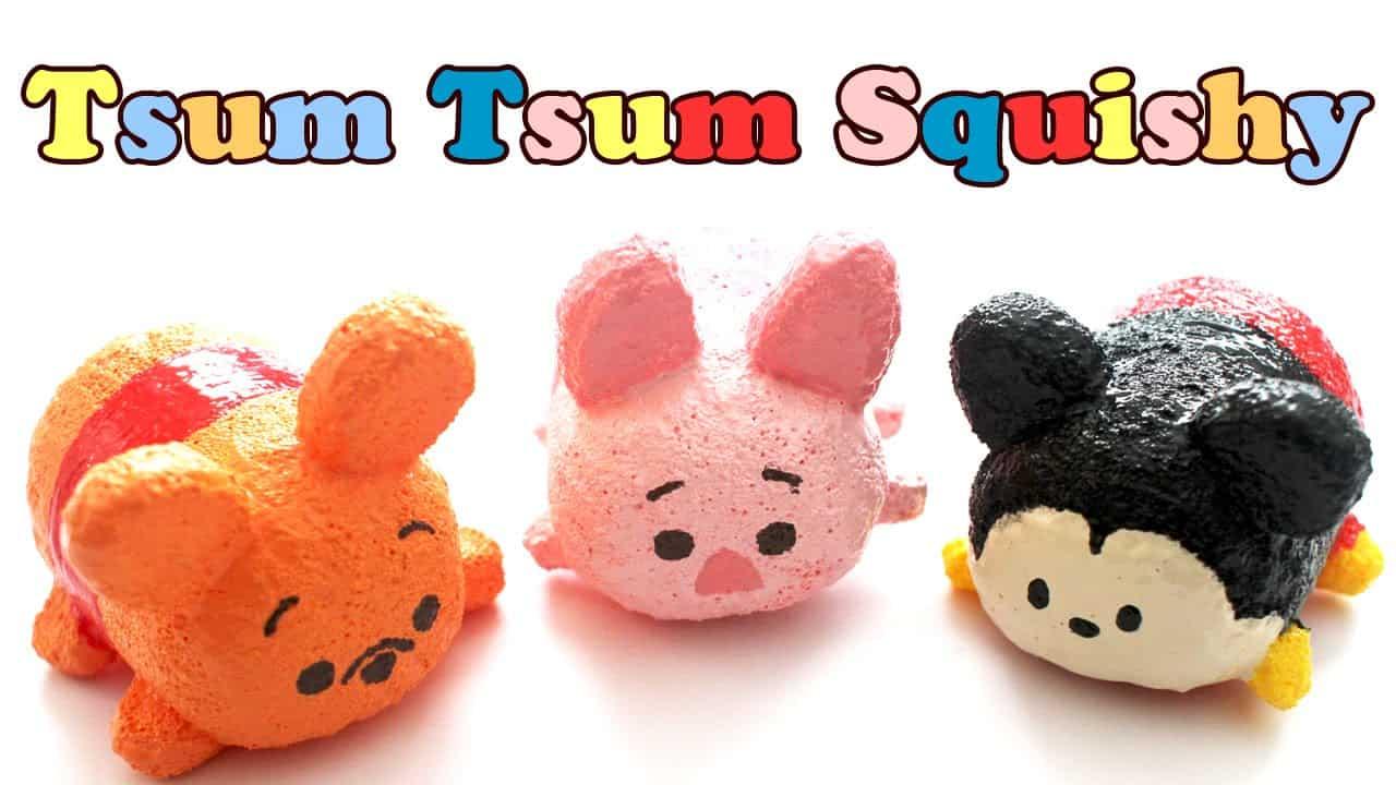 Homemade tsum tsum squishies