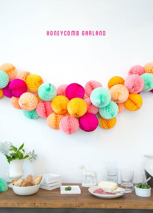 Homeycomb garland