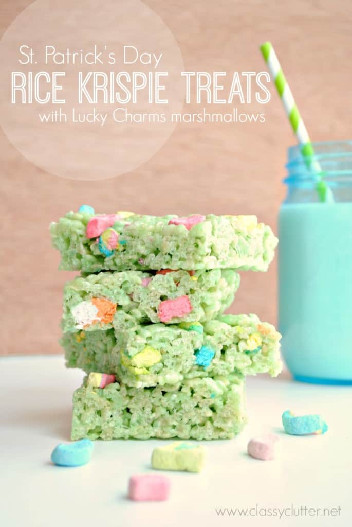 Lucky rice krispie treats