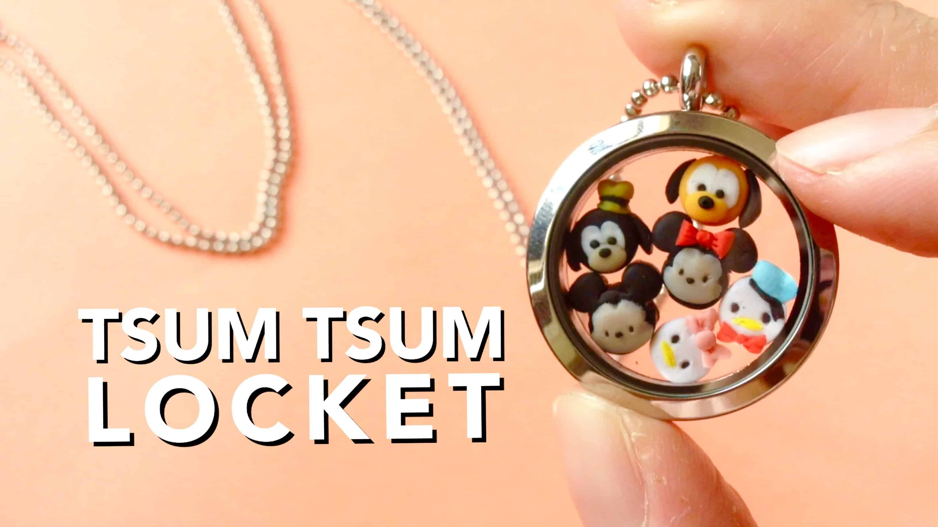 Mini clay tsum tsums locket
