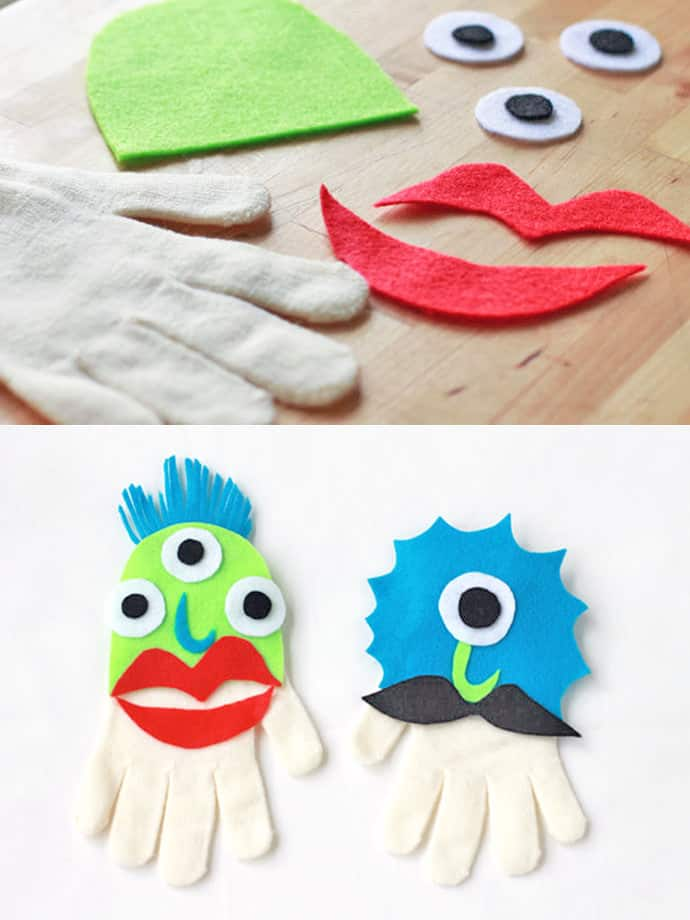Monster glove puppets