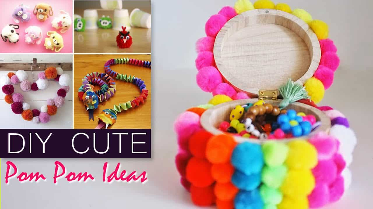 Cool Pom Pom Crafts The Whole Family Will Love Making