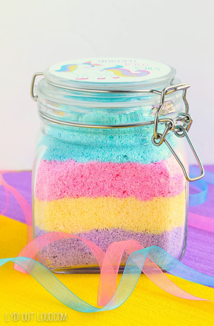 Pretty unicorn bath salts