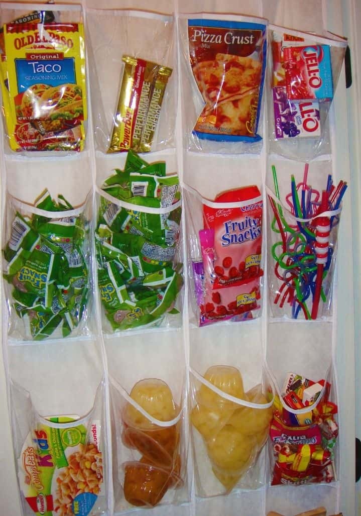 Shoe rack as a snack holder