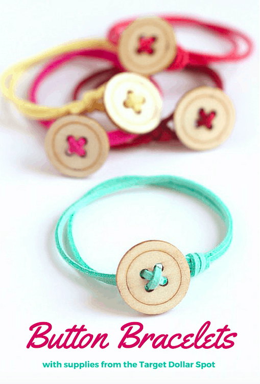Simple button friendship bracelets