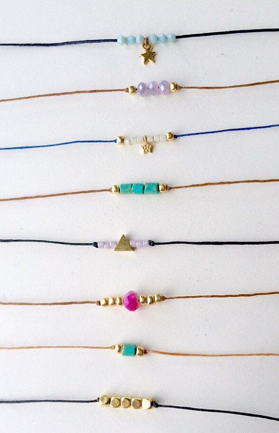 Simple small bead chokers