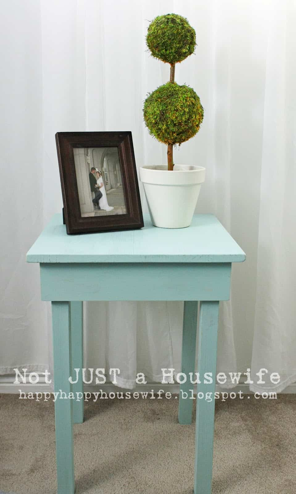 Simple wooden side table