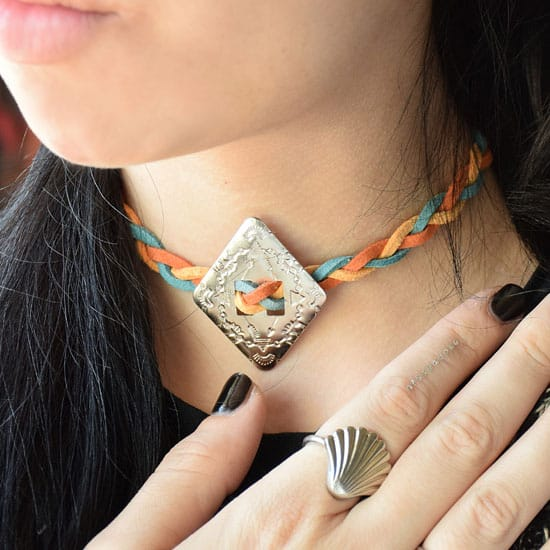Southwest inspired braided choker