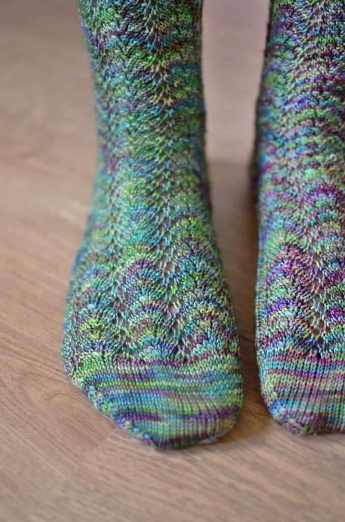 Spring fern socks