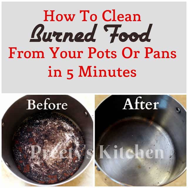 Steel wool, baking soda, and dish soap for burned food