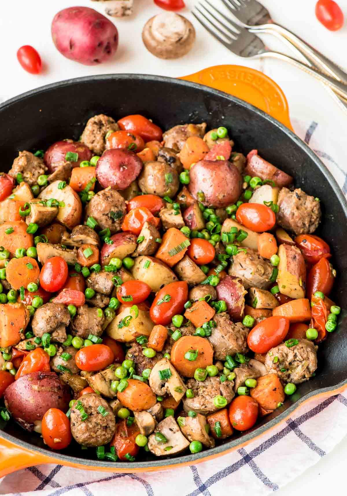 Sweet italian sausage skillet
