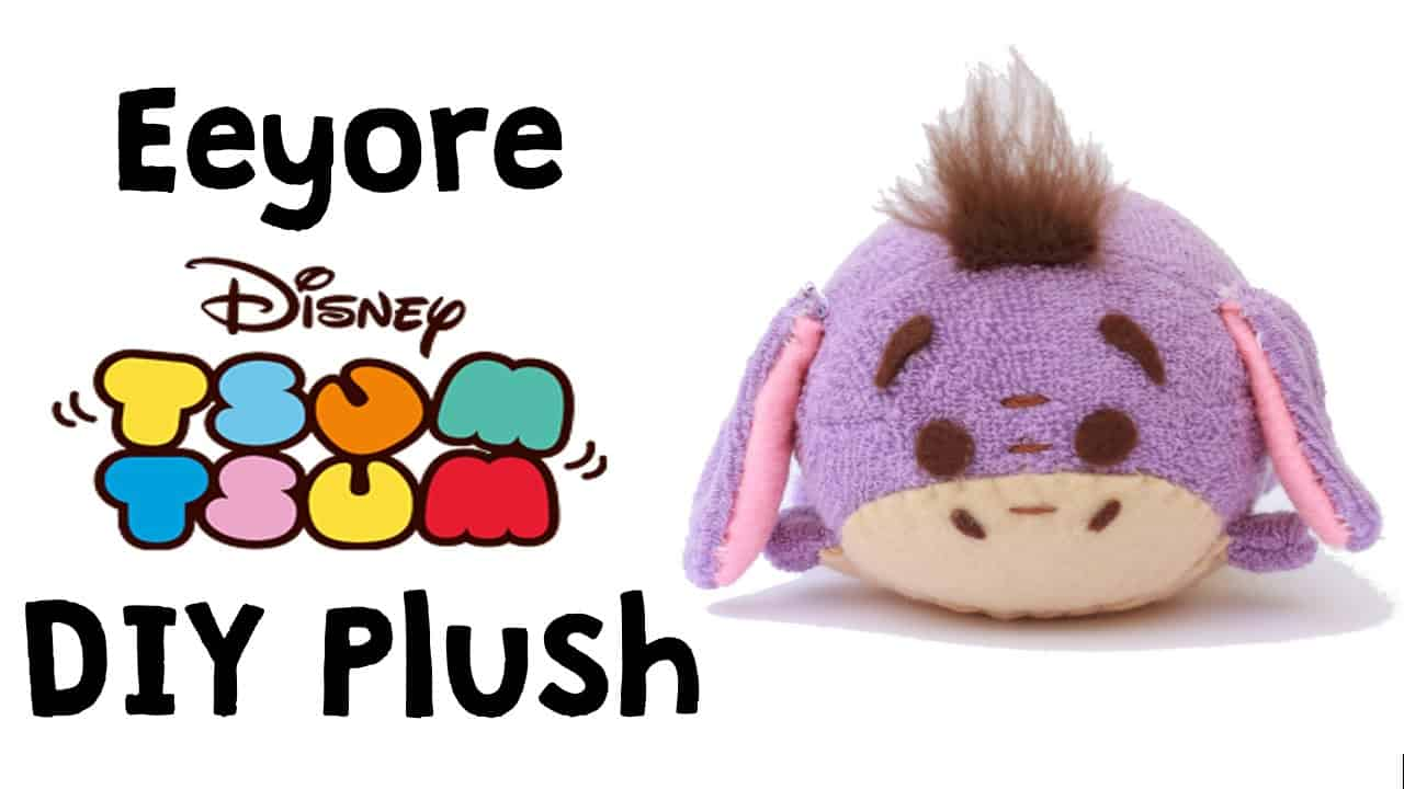 Terry cloth and felt homemade eeyoe tsum tsum