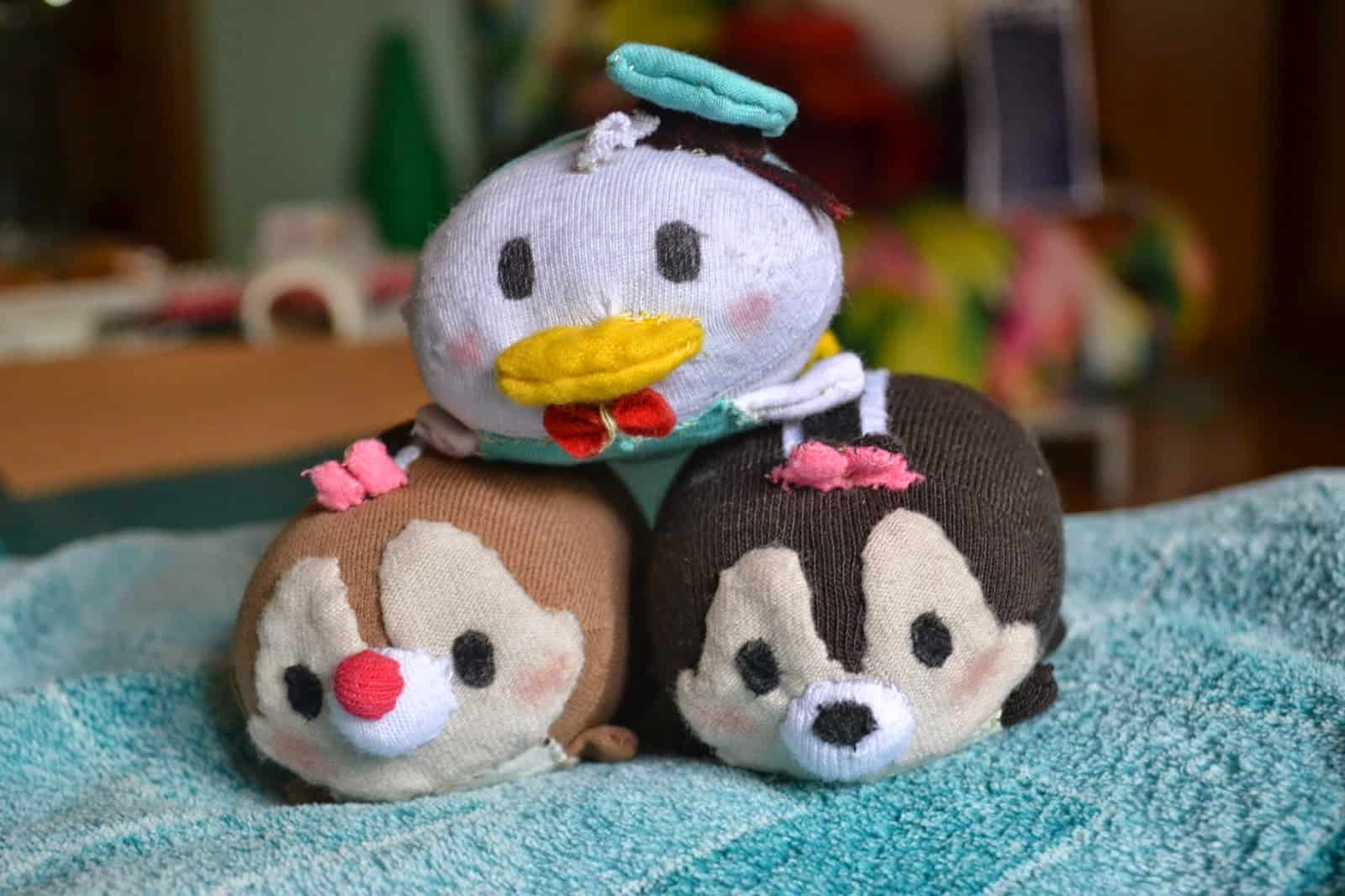 Tsum tsums made from old socks