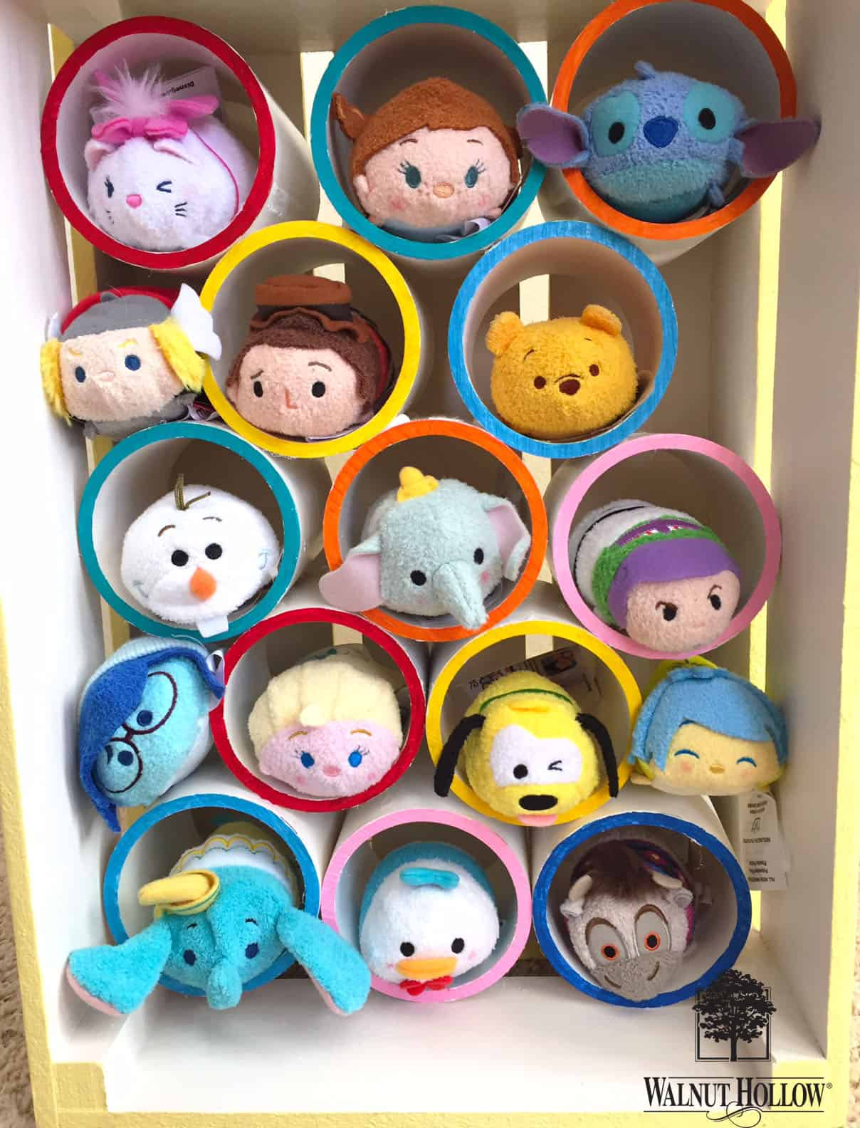 Wooden crate and pvc pipe tsum tsum hotel