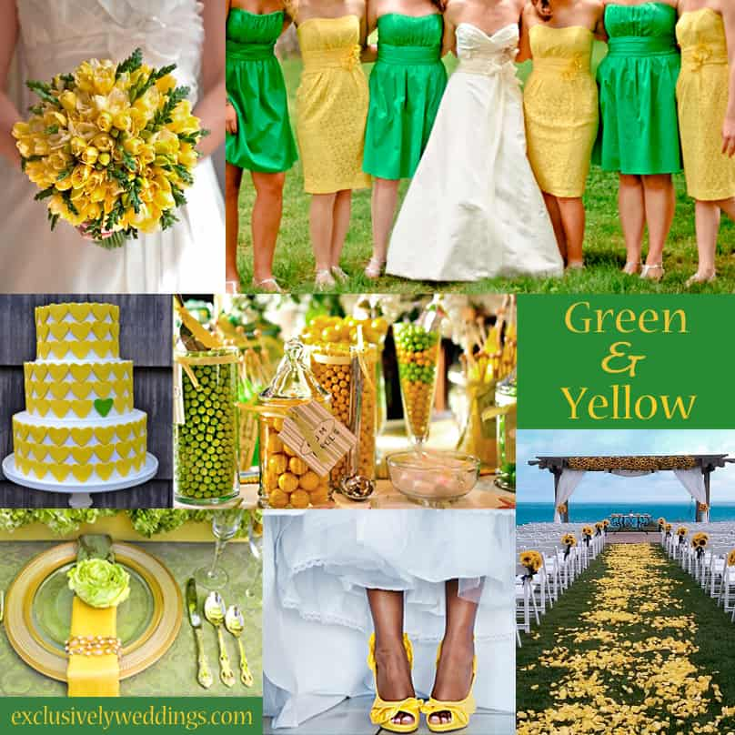 Yellow and bright green