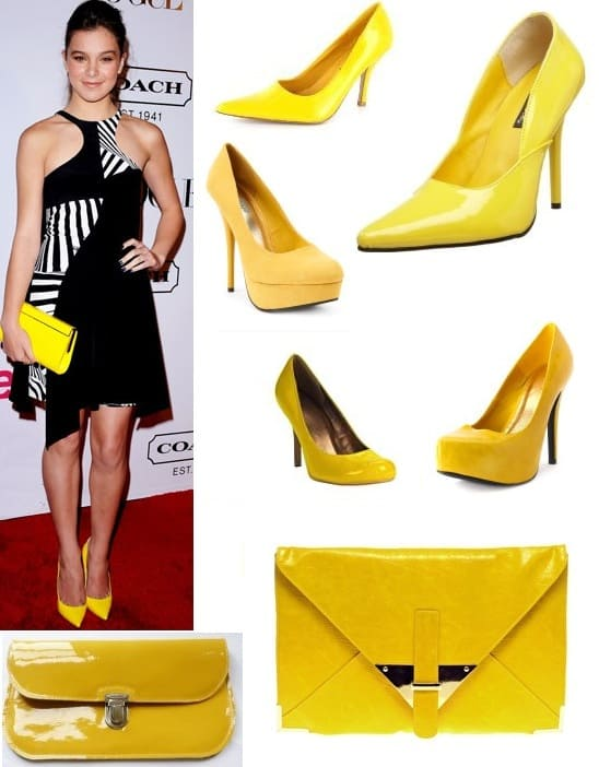 Yellow pumps and clutches