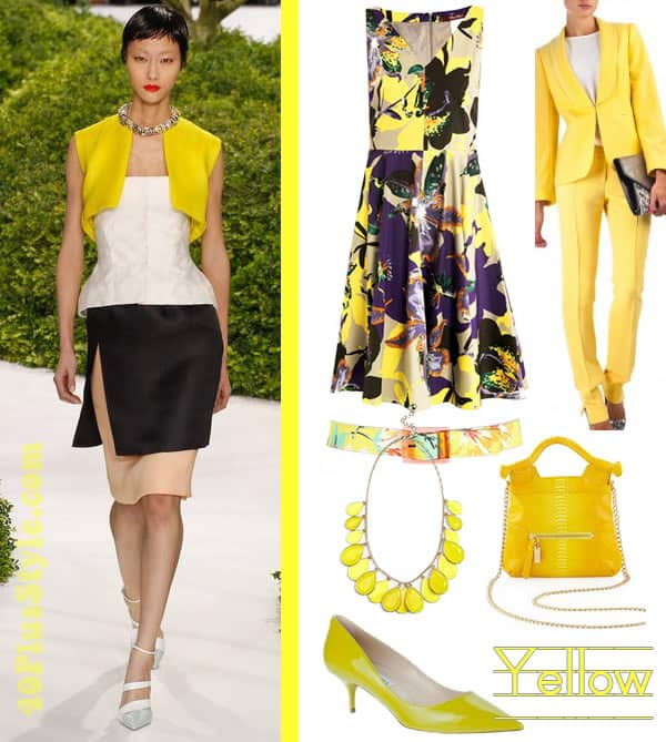 Yellow with neutrals and florals