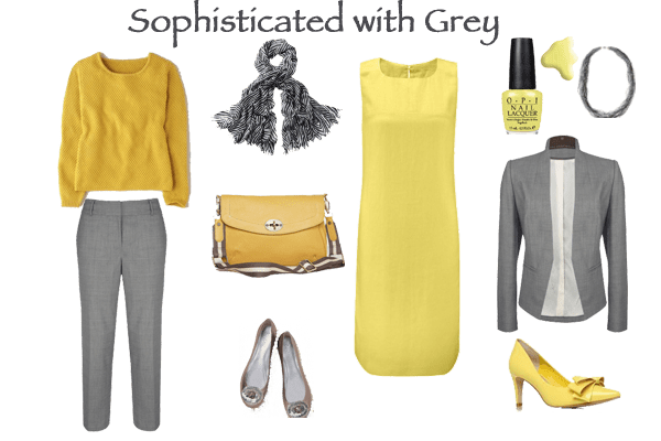 Yellow with sophisticated grey