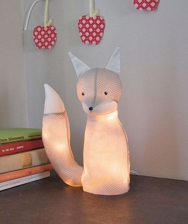 Diy animal light for nursery