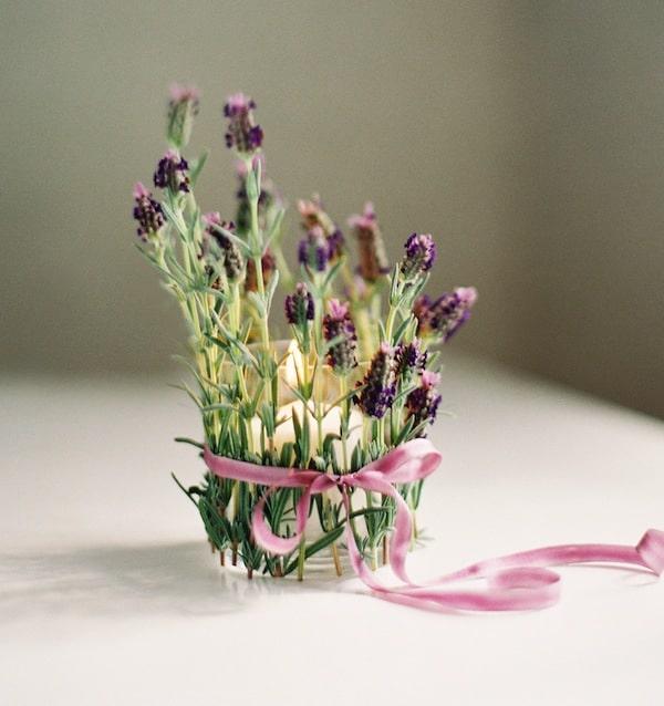 Diy lavender votive