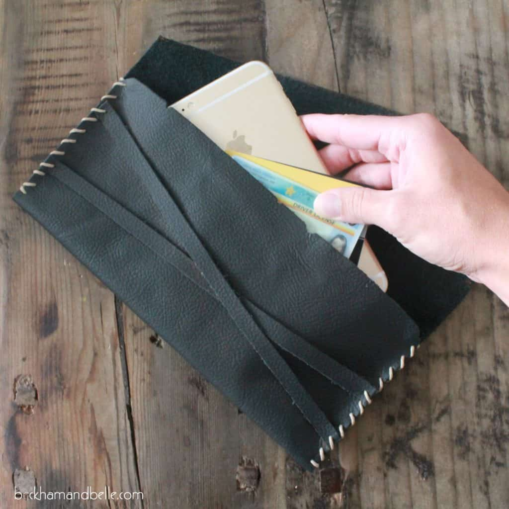 Diy leather clutch wallet