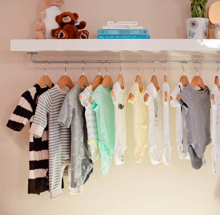 Diy nursery shelf rack