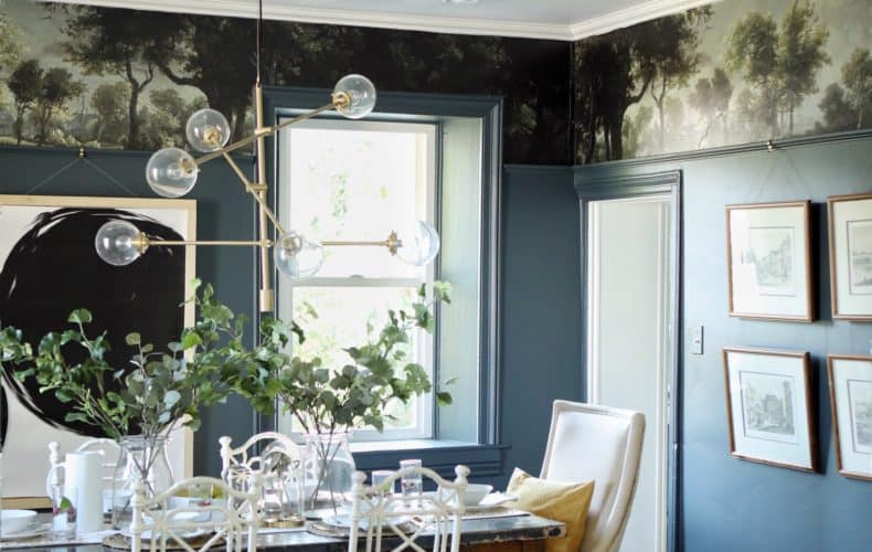 Diy vinyl floral wallpaper