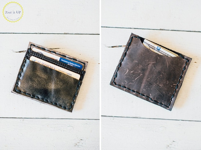 Fabric and leather diy wallet