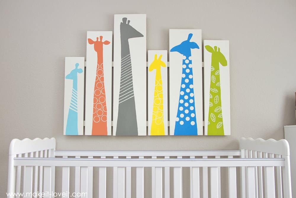 Giraffe nursery art diy