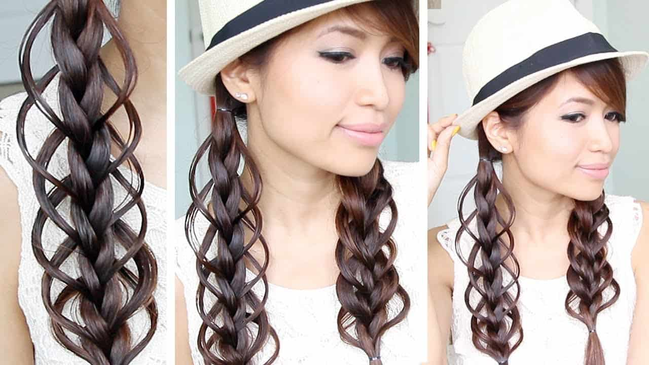 Loop braided hair
