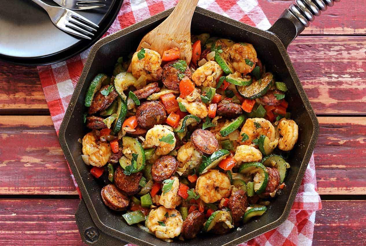 Paleo newbie shrimp sausage