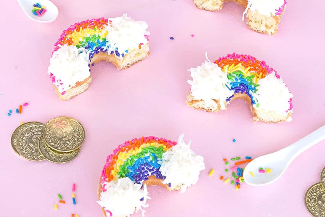 Rainbow donut recipe
