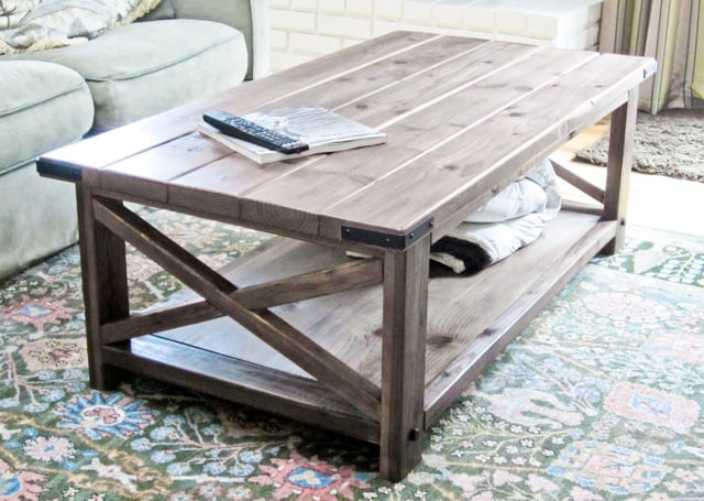 Rustic coffee table diy