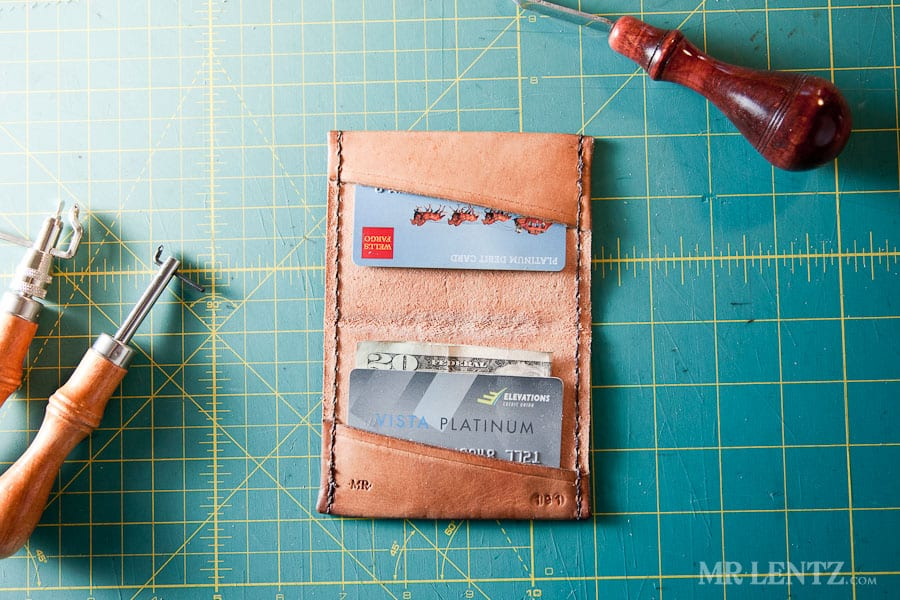 Stamped leather wallet tutorial