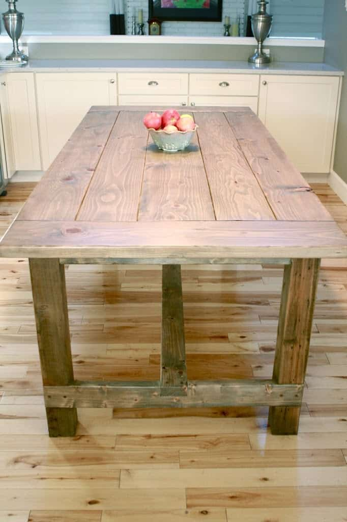 Weathered diy farmhouse rustic table