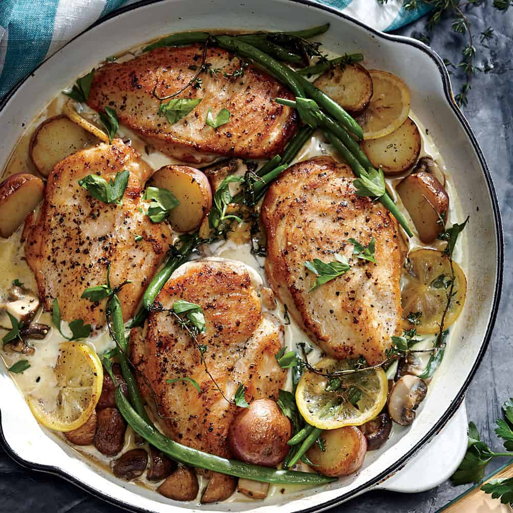 Weeknight lemon chicken skillet dinner ck