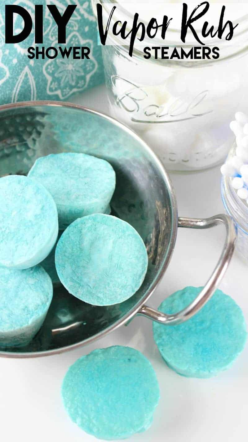 Diy vapor rub shower steamers