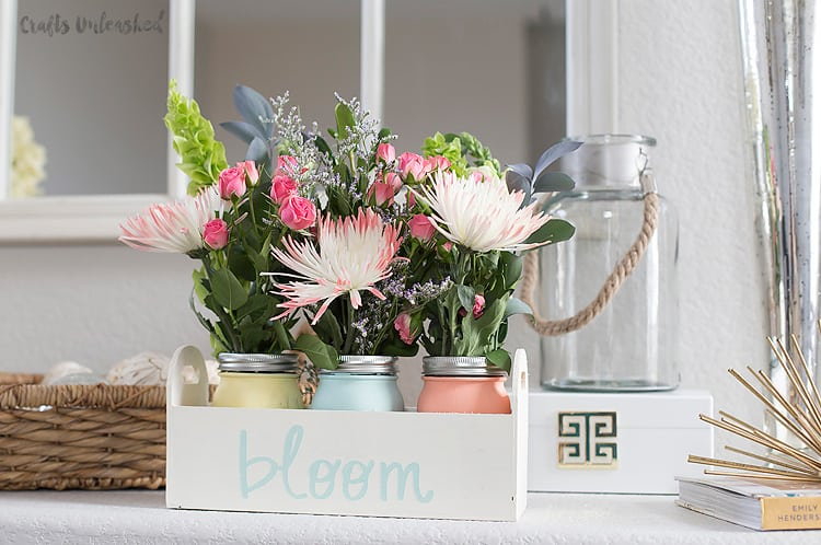 Diy planter box mason jars