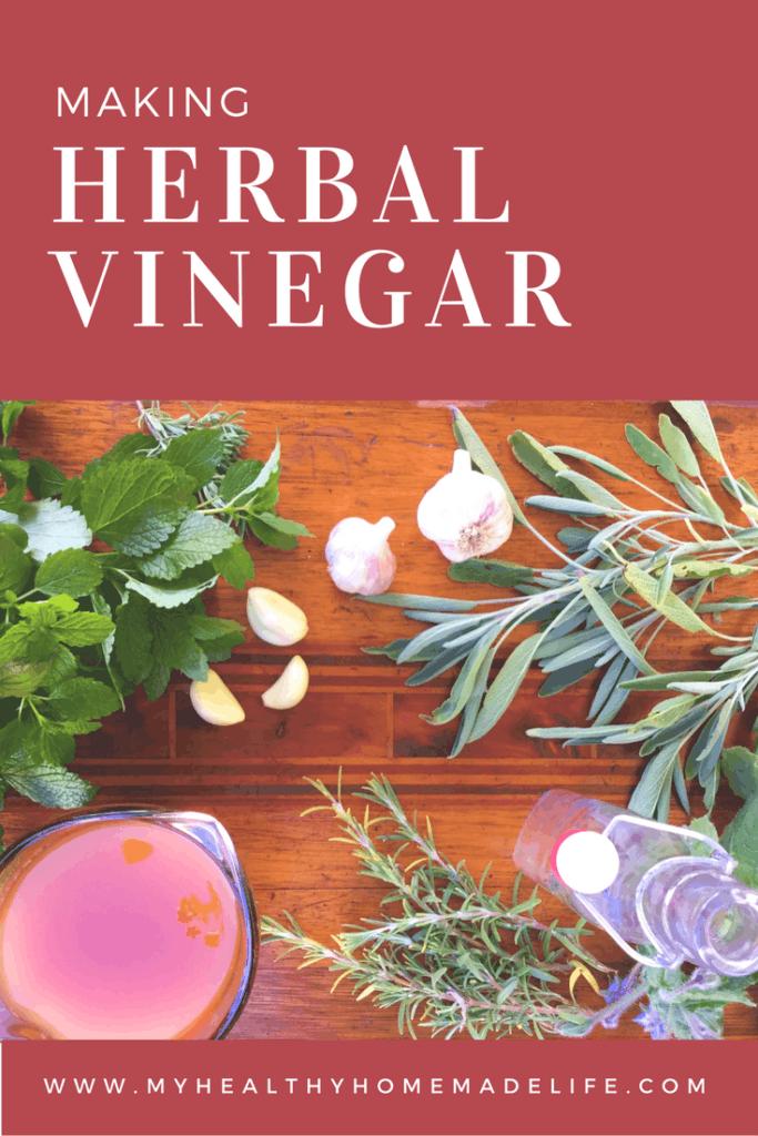 Garlic herbal vinegar