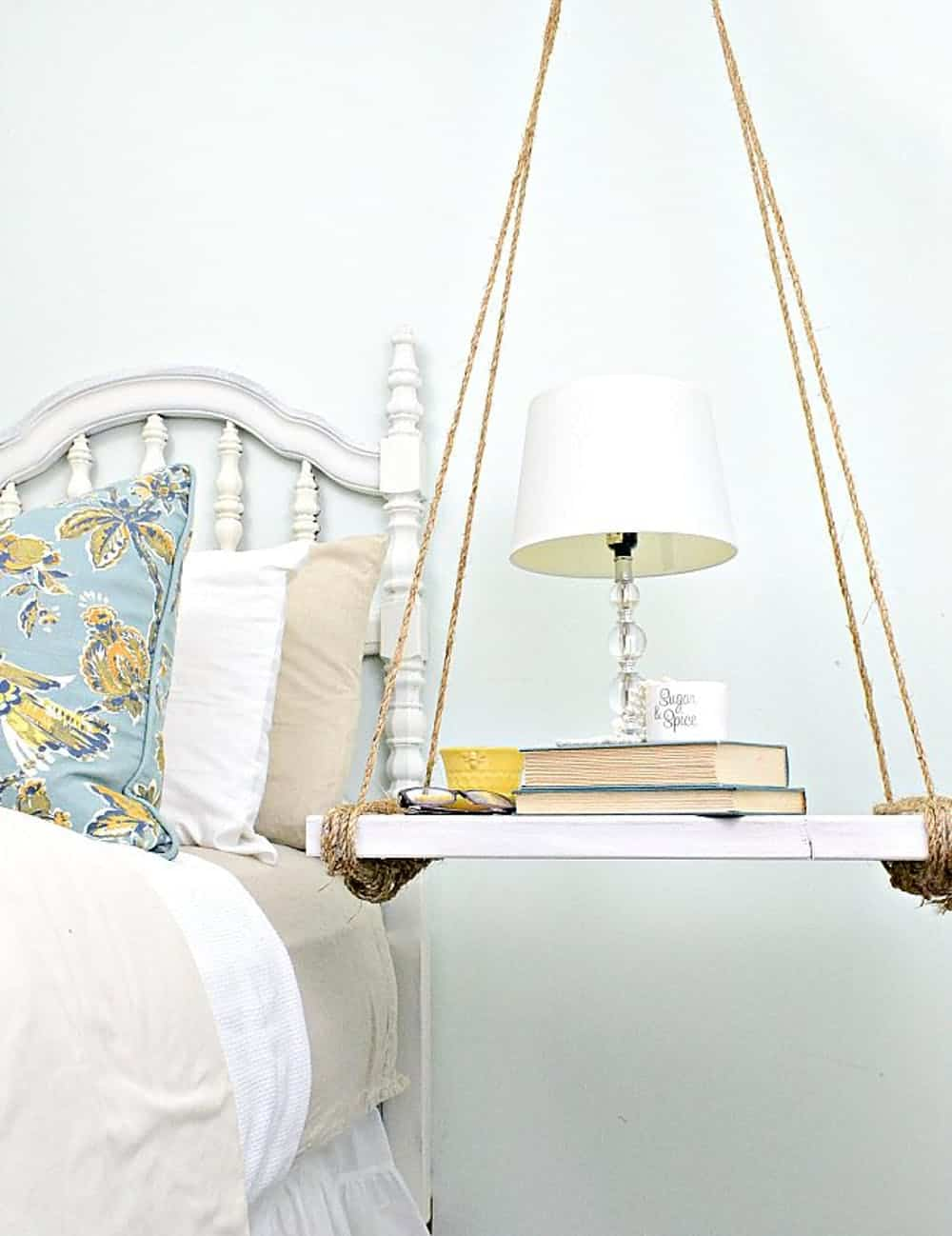 Hanging nightstand diy