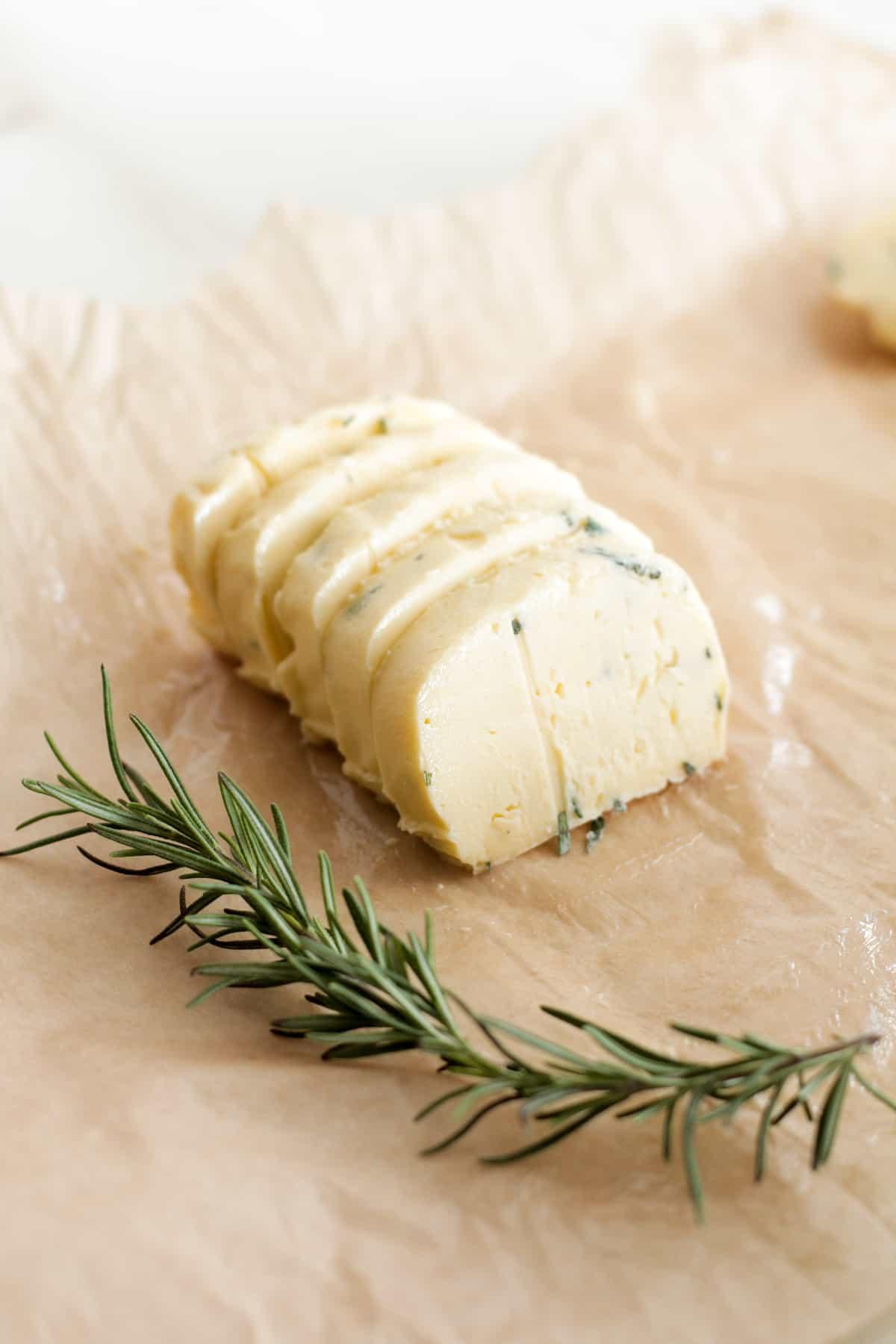 Homemade garlic herb butter