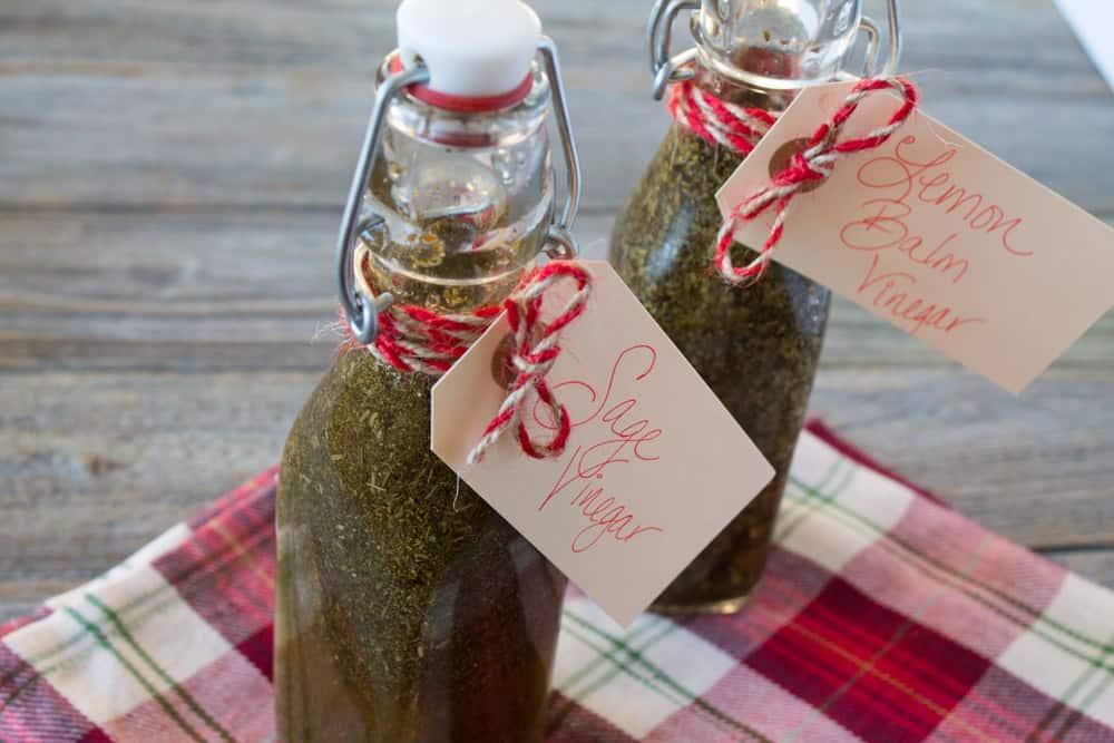 Sage and lemon balm vinegar