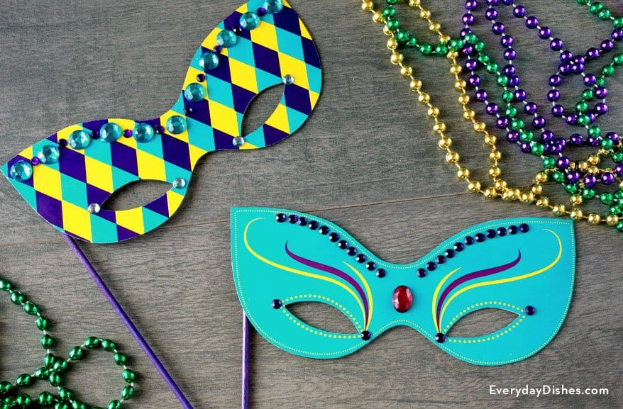 Simple, embellished printable masks
