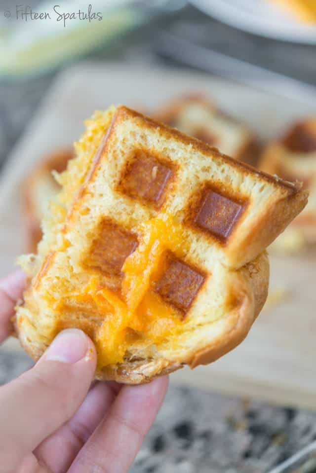 Waffle maker grilled cheese